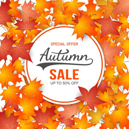 Autumn Sale Background. vector illustration Illustration