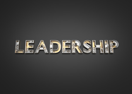 Leadership word made from Mechanic alphabet. 3D illustration Stock Photo