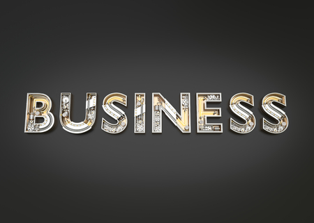 Business word made from Mechanic alphabet. 3D illustration Stock Photo