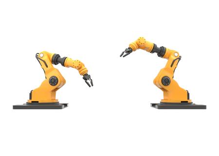 robotic arm on white background. 3D illustration