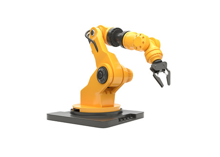 robotic arm on white background. 3D illustration
