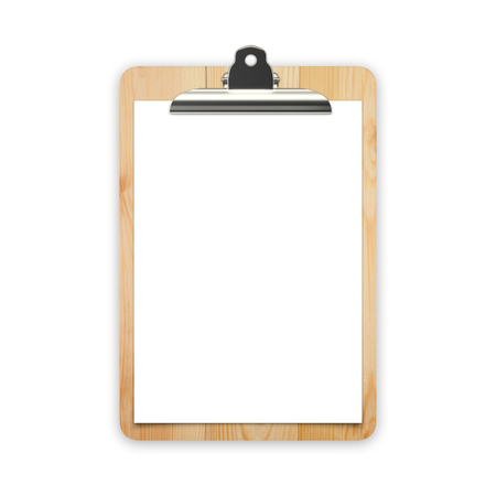 Blank paper for menu on cutting board Stock Photo