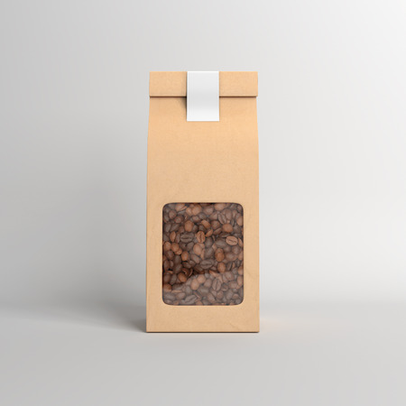 A pack of coffee beans Stock Photo