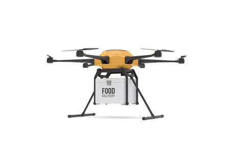 Food delivery drone concept.