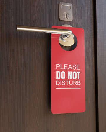Do not disturb sign. 3D illustration
