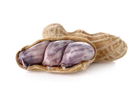 groundnut: peanut, nut, goober, ground-nut, monkey-nut isolated on white background.