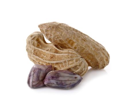 goober: peanut, nut, goober, ground-nut, monkey-nut isolated on white background.