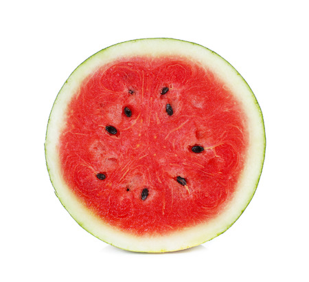half of watermelon isolated on white background.
