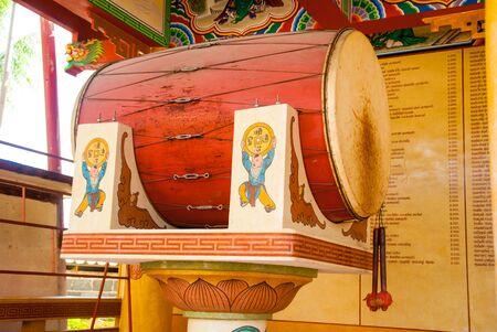 Drum in temple Banco de Imagens