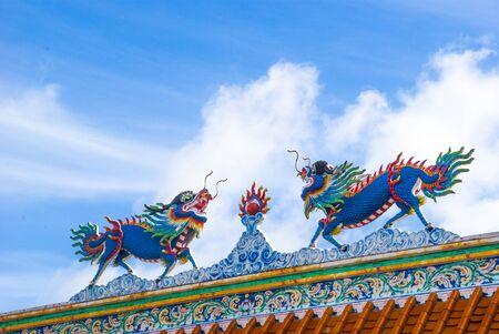 Double dragon on china temple, Beautiful dragon, Dragon on china, Dragon