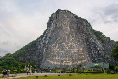Buddha image in precipice