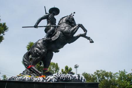 Statue of hero Stock Photo