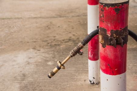 l p g: Gas nozzle LPG gas for cars. Foto de archivo