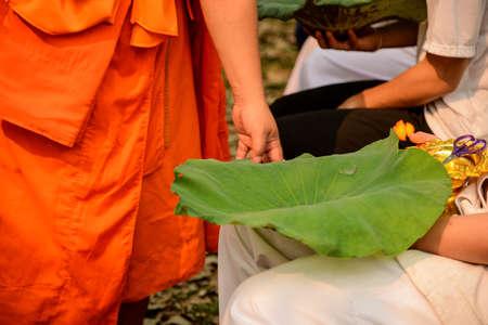ordination: Holy Child , Ordination Summer recess Thailand. Stock Photo