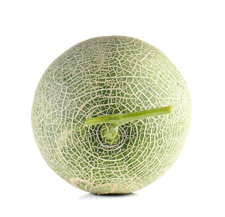 Melon full ball isolated on white background. Stock Photo