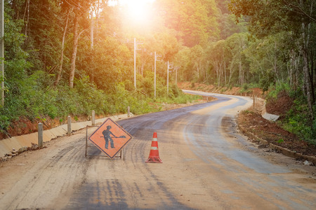 The road is currently under construction.