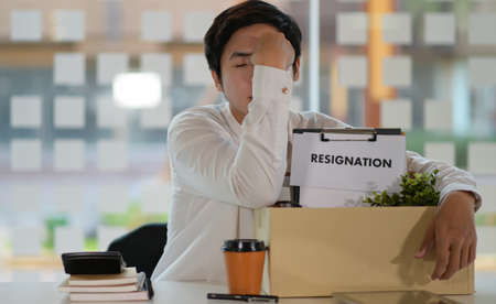 Unemployed people due to virus epidemic, termination of employment, resigned concept.
