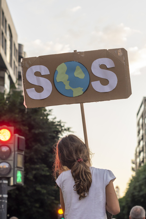 Young activists march as part of the Global Climate Strike of the movement Fridays for Future, in Valencia, Spain, September 27, 2019. By Saray Leal.