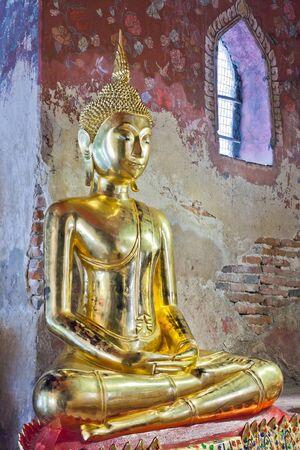 Buddha image in Wat Suthat of Thailand