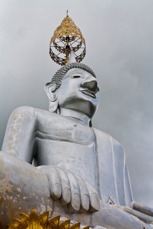 the image of Buddha is silver