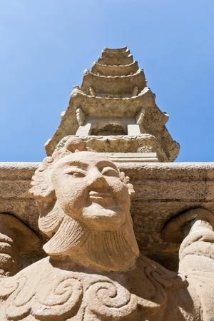 Chinese pagoda at Wat Po in Bangkok, Thailand.