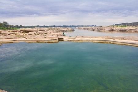 Emerald Pool Sam Phan Bhok Mekong River. Ubon Ratchathani, Thailand.