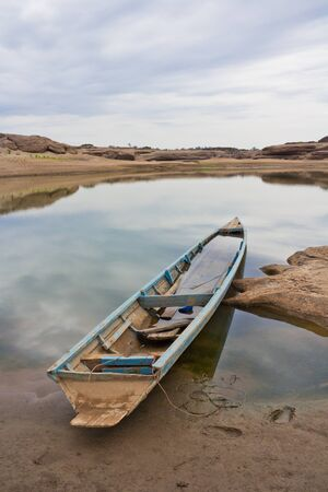 hillock: Old wooden boat