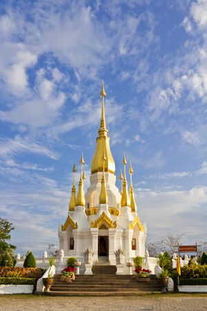 pagoda in the temple of Ubon Ratchathanee, Thailand Stock Photo