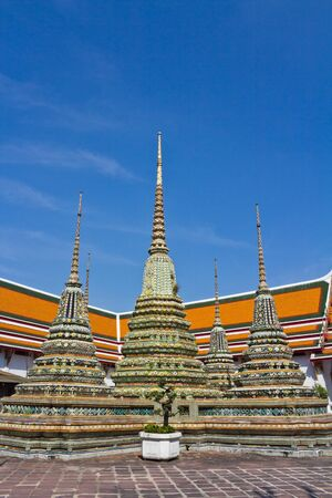 Small pagoda in the temple of Thailand photo