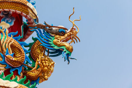 Chinese Dragon statue in Rayong province,Thailand photo
