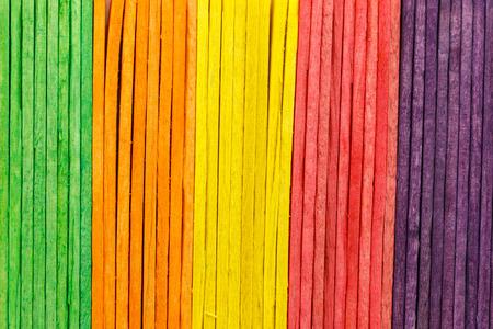 colorful of Ice cream sticks photo
