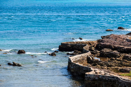 Stone walls by the sea photo