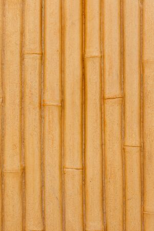 bamboo fence background made from cement photo