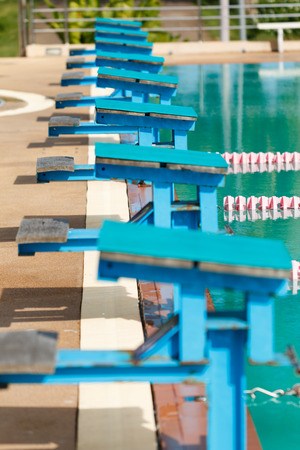 row of stand in Swimming Pool photo