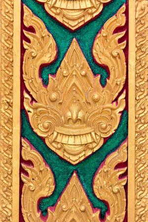 thai motifs: Thai Motifs on wall at Buddhist Church