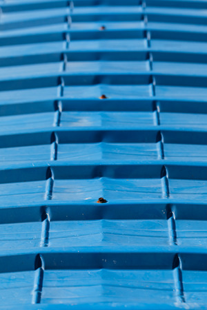 Blue zinc Roof surface photo