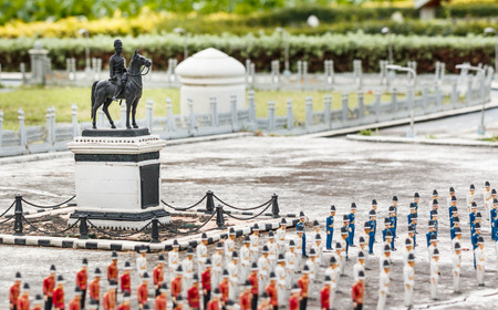 PATTAYA, THAILAND - DECEMBER 27, 2014: King Chulalongkorn Monument in Mini Siam Park. Mini Siam is a famous miniature park attraction. Pattaya, Thailand