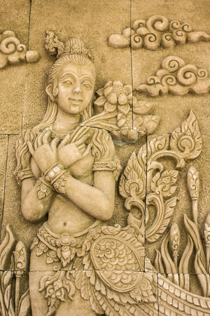 Stone carved thai style photo