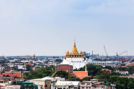 BANGKOK, THAILAND � November 14: The golden mount (Wat Sraket Rajavaravihara) on November 14, 2014, Bangkok, Thailand.