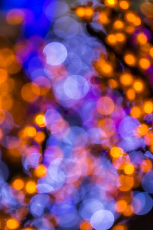 Colorful of Defocused light in night time photo