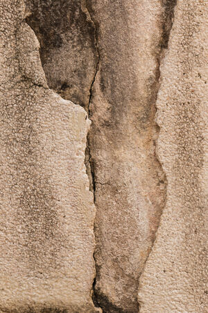 cleft: Cracked cement wall