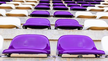 grandstand: Fila de Tribuna preside en el estadio