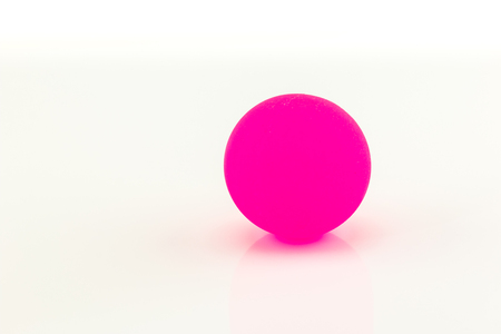 rubber ball: Pink rubber ball on white background Stock Photo