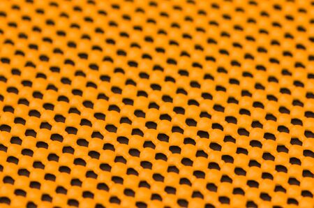 non skid: Close up detail of orange skid mat