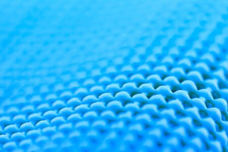 non skid: Close up detail of blue  textured non skid mat Stock Photo