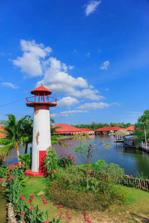 Replica Lighthouse at Hua Hin in Thailand photo