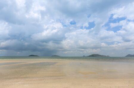 beach rain: nice view of the beach when rain coming