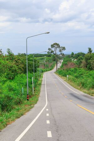 curve road: curve of the road in Thailand