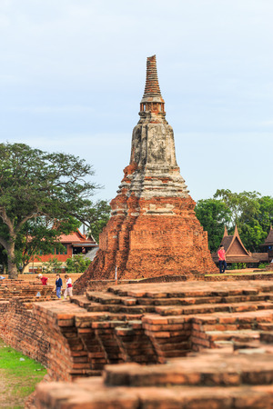 tourisms: AYUTTHAYA, THAILAND- August 4 : The tourisms are in Wat Chaiwatthanaram Buddhist temple in the city of Ayutthaya Historical Park at Ayutthaya,Thailand Augudt 4, 2015 Editorial