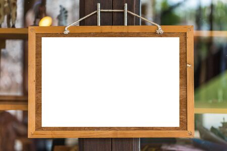 bulletin: blank board  bulletin board with a wooden frame Stock Photo